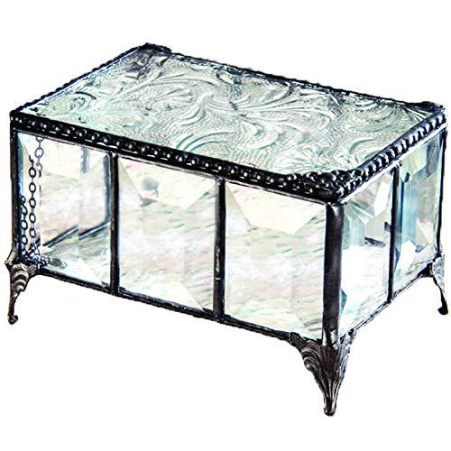 J Devlin Box 762 Vintage Clear Beveled Glass Box Chest Decorative Keepsake Trinket Box Jewelry Display Crystal
