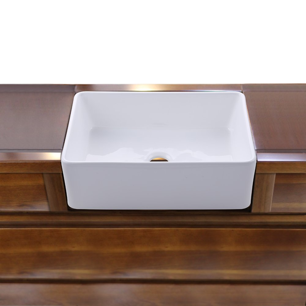 KES cUPC Fireclay Sink Farmhouse Kitchen Sink (30 Inch Porcelain Undermount Rectangular White) BVS117 by Kes (Image #4)
