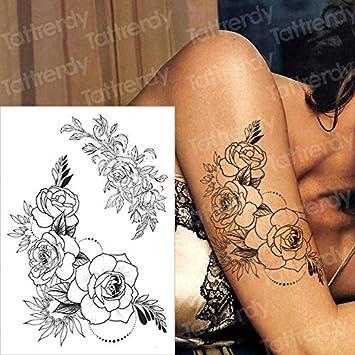 Etiqueta engomada del Tatuaje Impermeable Arte Corporal Cuerpo ...