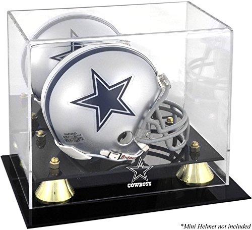 Dallas Cowboys Golden Classic Mini Helmet Display Case (Display Football Dallas Case Cowboys)