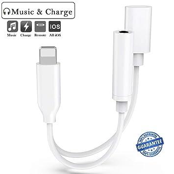 Adaptador de auriculares para iPhone 8, adaptador de cable ...