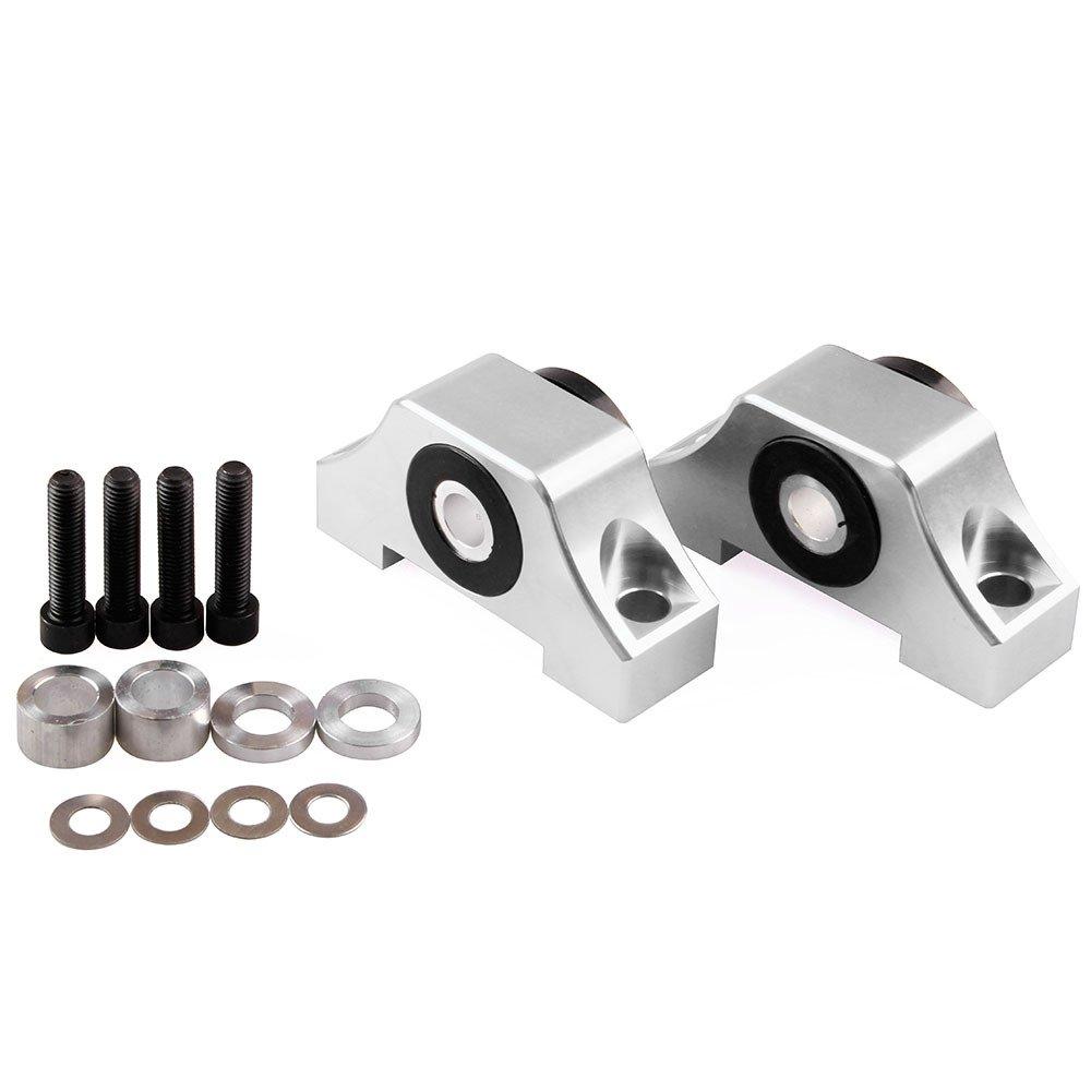 Engine Motor Mount Set, Accessori per motore di auto, Kit montaggio coppia per motore serie B/serie D per 92-01 Honda Civic D15 D16 B16 B18 B20 rosso Zantec