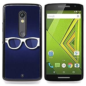 For Motorola Verizon DROID MAXX 2 / Moto X Play - Glasses /Modelo de la piel protectora de la cubierta del caso/ - Super Marley Shop -