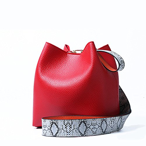 Rilievo Red Borsa Donna A black Borse In Da Tracolla Casual Semplice nvU0gt