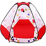 AutoLover Children Play Tent, Kids Folding Play House Portable Outdoor Indoor Toy Tent Castle Cubby