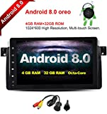 FreeNavi For BMW E46 9 Inch Android 8.0, Multi Touch Screen Car Stereo Radio, Player Car GPS CANbus Screen Mirroring Function OBD2 Octa-Core 64Bit 4G RAM 32GB ROM with free rear view camera