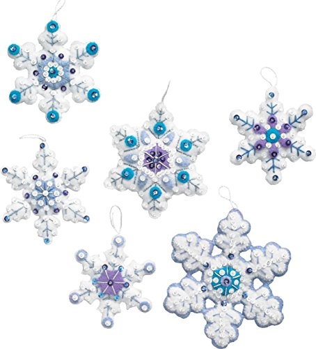 - Bucilla 86724 Sparkle Snowflake Ornament Kit