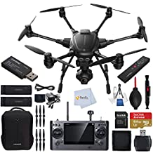 YUNEEC Typhoon H Hexacopter with Intel RealSense Technology Bundle includes CGO3 4K 3-Axis Gimbal Camera + YUNEEC Simulator + YUNEEC Wizard Wand Controller + Sandisk 64GB Extreme MicroSDHC Memory Card + High Speed Card Reader & More!!!