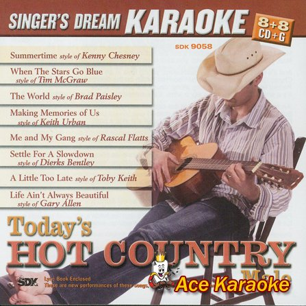 Today's Hot Country Male - Karaoke CDG