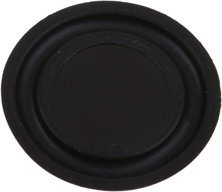 2X 40mm Lautsprecher Vibrationsmembran Passive Bass Membranplatte Schwarz