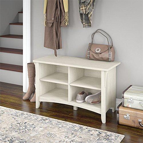 Bush Furniture Salinas Shoe Storage Bench in Antique White by Bush Furniture (Image #3)
