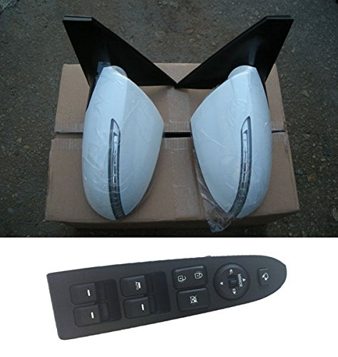 [Sell by Automotiveapple] -5case, Kia Motors OEM Genuine 876103W010, 876203W010, 935703W400WK LH RH LED Side Mirror Assembly PAINTED + Window Switch Lever 3-pc Set For 11 12 13 14 Kia Sportage (UD - Clear White) by Sportage (11 ~ 14) (Image #7)