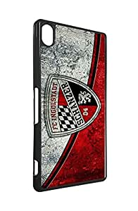 FC Sony Xperia Z3 Funda Case football Team Logo Design- Ingolstadt 04 FC Football Club logo Sony Xperia Z3 Funda Case Cute for Man- Football Protective[Black and White]