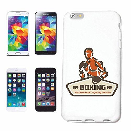 caja del teléfono iPhone 6S Boxeo del club del boxeo Guantes de boxeo CAJA DE ROCKY STALLONE SPARRING BOXEADOR Caso duro de la cubierta Teléfono Cubiertas cubierta para el Apple iPhone en blanco