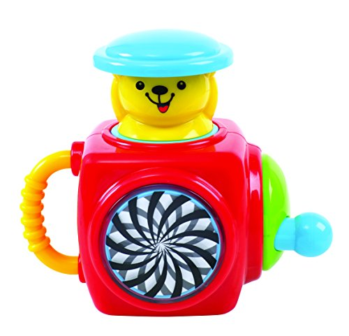KidSource Pop-Up Bear - Musical Jack-in-the-Box Toy - Classic Play Pattern Promotes Early Learning and Fine Motor Skills for Infants Ages 1 Year Old and Up (Jack In The Box Jack In The Box)