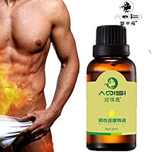 Men Effective ENLARGE Penile Erection Spray Male Extender Sex Delay Spray Enlargement Oil 30ml (Brown)