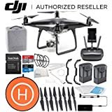 DJI Phantom 4 PRO Obsidian Edition Drone Quadcopter (Black) Essential Landing Pad Bundle