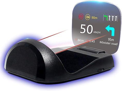 Wisamic Head Up Display Car Head Up Hud Display Obd2 And Hud Display Gps Windscreen Projector Speed Meter Car Tachometer Water Temperature Meter Motor Speed Security Alarms Auto