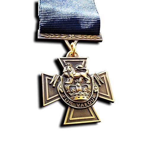 Goldbrothers13 Military Medal Victoria Cross Royal Navy WW1 Medal with Blue Ribbon 1918 Naval Repro (Army Awards And Ribbons Order Of Precedence)