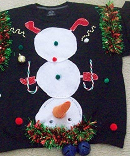 New Ugly Christmas Sweater Sweatshirts Naughty Men Rednavy Blue Or