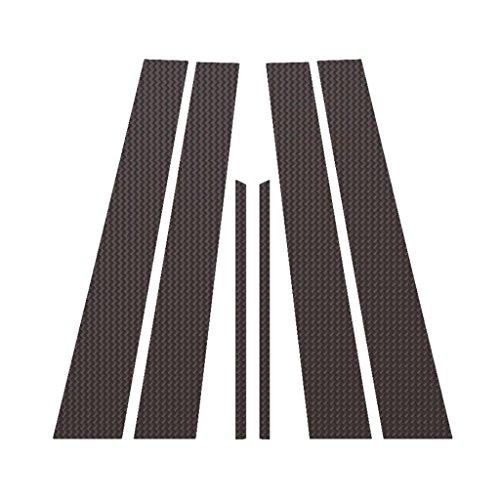 Carbon Fiber Pillar Post Trim Cover fits: 2007-2011 Toyota Camry 4 Door - Ferreus Industries - PIL-013-CF-a (Carbon Fiber B Pillar Covers)