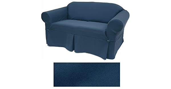 Amazon.com: Ultra Suede Azul Añil Muebles Slipcover sofá 641 ...