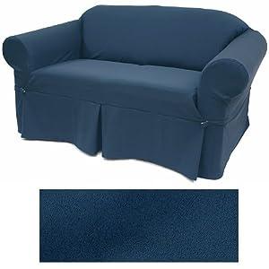Wonderful Ultra Suede Indigo Blue Furniture Slipcover Sofa 641