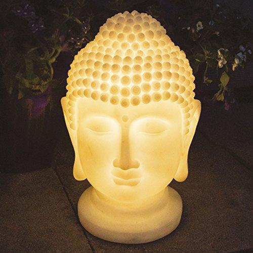 Éclairage Gardenkraft De Led Tête Bouddha Polyrésine Solaire 0nwX8kOP