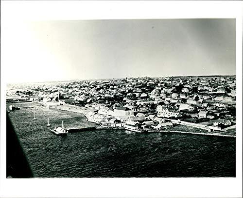(Vintage photo of The Port Stanley Falkland Islands.)