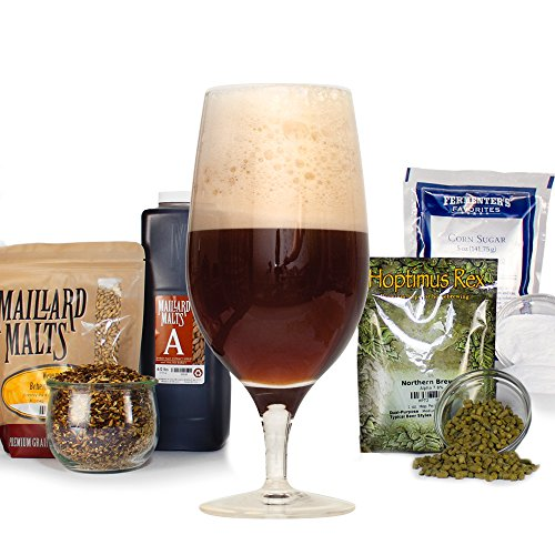 Saison De Noel Belgian Farmhouse Ale - HomeBrewing Beer Making Recipe Kit - Malt Extract, Dark Ale 5 Gallons Of Homemade Brew Ingredients