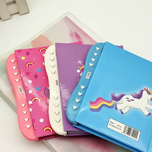 2 Pack Unicorn Diary Notebook Journal Secret Passcode Lock-Best Unicorn Gifts For Girls DPIST