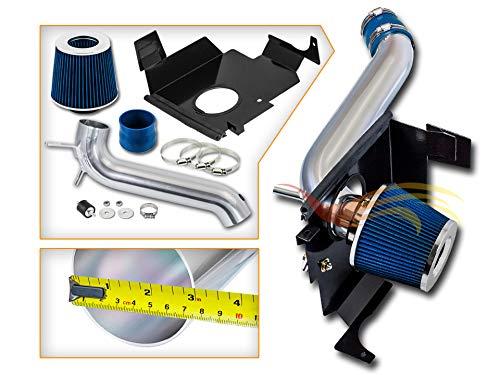 Cold Air Intake System with Heat Shield Kit + Filter Combo BLUE Compatible For 05-08 Dodge Magnum V6 3.5L / 06-08 Dodge Charger V6 3.5L / 05-10 Chrysler 300 3.5L V6 Blue Dodge Intake System
