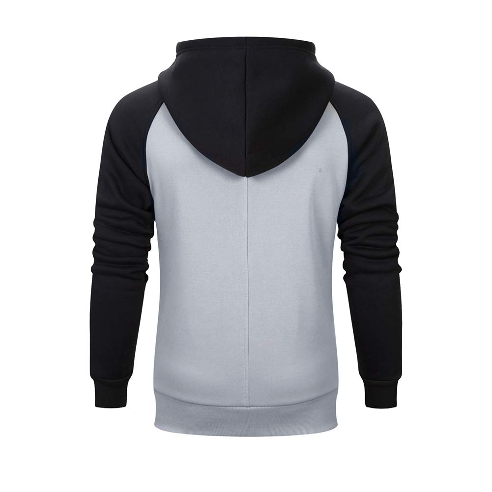 9de1bcae300 LBL ASALI Men's Casual Hoodies Solid Color Sports Pullover Soft Hooded  Sweatshirt