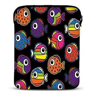 """Tropical Fish Neoprene Tablet Sleeve Case for 10"""" Samsung Galaxy Tab2, iPad, Motorola Xoom"""