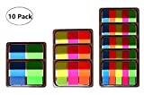 Index Tabs Tape Flags - Sticky Writable Page Marker Tabs, It Post Flags, Pop-up Notes Tabs Neon Flag - 10 Sets 3 Sizes
