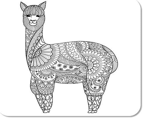 Mousepad Computadora Bloc de Notas Animal Alpaca Zentangle ...