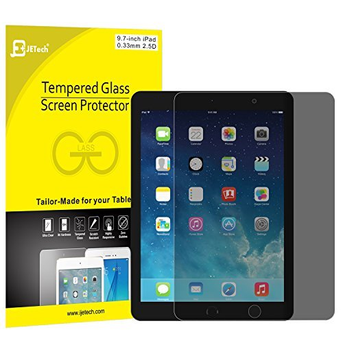 JETech Privacy Screen Protector for Apple iPad (9.7-inch, 2018/2017 Model), iPad Air 1, iPad Air 2, iPad Pro 9.7-Inch, Anti-Spy Tempered Glass Film