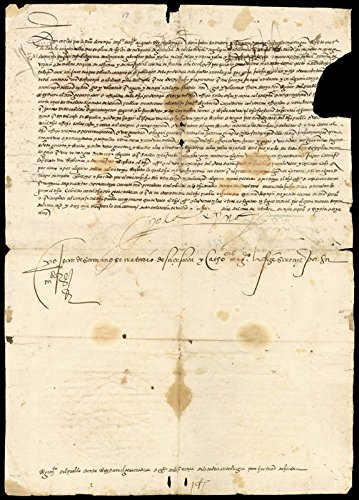 Queen Isabella (Portugal) - Document Signed 10/8/1536