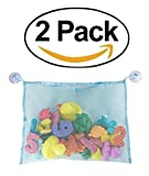 LaundryMate Bath Toy Organizer 2 PK - Bath Tub Toys Organizer includes Free 4 Extra Strong Suction Cups - Large Storage Bag for Toys Also Use as a Shower Caddy! Mold Free Playtime for