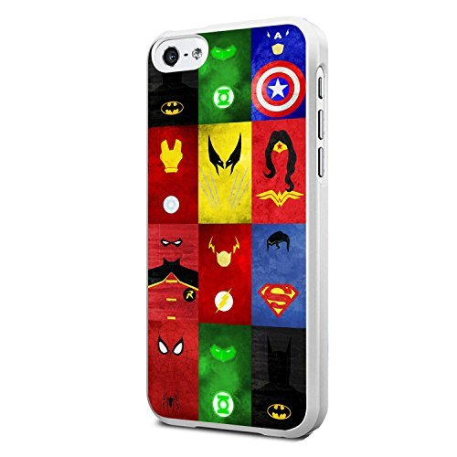 Comics Collage Superheroes for Iphone and Samsung Galaxy Case (iPhone 5c white)