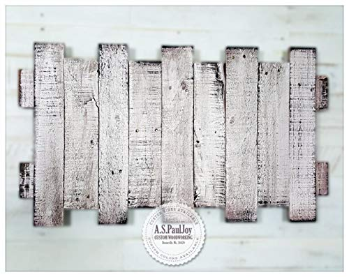 - Distressed White Painted Pallet Rustic Home Decor sign, Antiqued Reclaimed Wood Wall Hanging Art