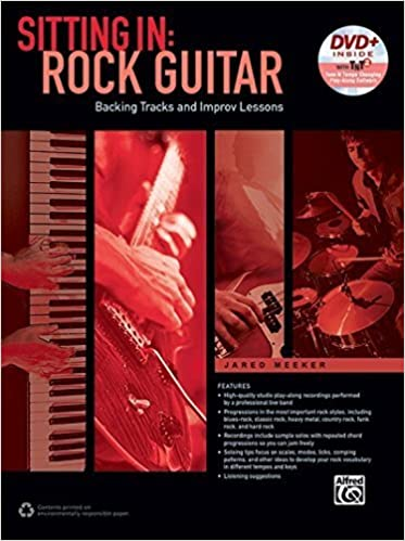 Book Sitting In -- Rock Guitar: Backing Tracks and Improv Lessons, Book & DVD-ROM by Jared Meeker (2015-09-01)
