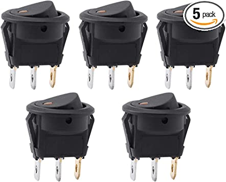 5Pack 4Pin SPST Waterproof Red LED Light Rocker Toggle Switch Car Boat Marine