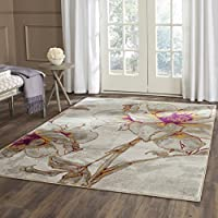 Safavieh Porcello Collection PRL7733E Ivory and Grey Area Rug (82 x 11)