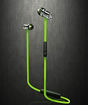 Junce Bluetooth Headphones,Wireless Stereo Bluetooth Headset With Magnet Attraction,Sweatproof V4.1 Sports Earphones with Microphone for iPhone, Android Smartphones, And Other Bluetooth Devices,Green