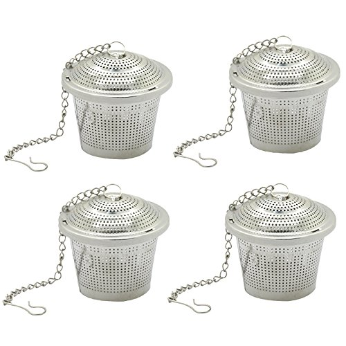Fangfang Extra Fine Loose Leaf Tea Infuser Stainless Steel Filter with Extended Chain (4)