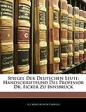 Spiegel der Deutschen Leute, Alexander Von Daniels, 114163001X