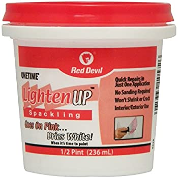 Red Devil 0572 Onetime Lighten Up 1 2 Pint White Wall