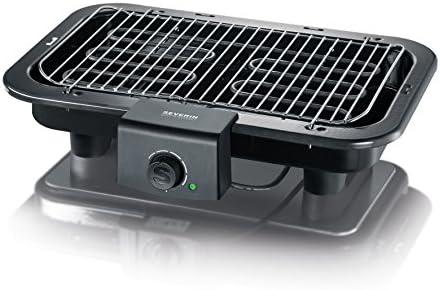 SEVERIN Gril Barbecue, Gril de table, Surface du Gril (41x26cm), 2.500W, PG 8518, Noir