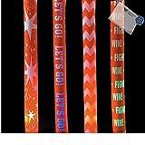 Bargain World Foam Orange Spirit Light-Up Batons (With Sticky Notes)